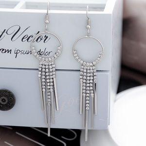 Jewelry - Platinum Plated CZ Fringe Earrings